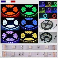 Ruban led 5050 RGB étanche ou non IP65 / IP20 30 Leds/M 5050 de 10cm à 5 M cablé