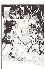X-Men #196 p.14 - Omega Sentinel vs. Pandemic Splash 2007 art by Humberto Ramos