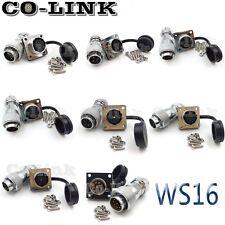 WS16 2pin 3pin 4 pin 5pin 6pin 7pin 8pin 9pin IP65 Waterproof Connector Set Plug