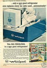 1963 RCA Whirlpool Icemagic Refrigerator Print Ad