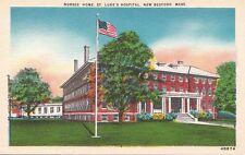 Postcard Nurses Home St Luke's Hospital New Bedford MA