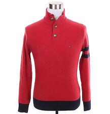Tommy Hilfiger Men Half Zip 3-Button Mock Turtle Neck Solid Sweater - $0 Ship