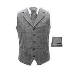 Luxury Herringbone Pewter Grey Waistcoat, Tie & Pocket Square Set