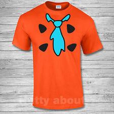 Fred Flintstone Fancy Dress Costume  T- Shirt The Flintstones 70's Funny s-2xl