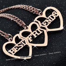 3A Conjunto Oro Rosa Corazón Collares Best Friends hermanas NUEVO Navidad