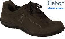 GABOR Schuhe Sneaker Halbschuhe Schnürschuhe Grau Leder Wechselfußbett NEU