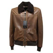 0904N giubbotto pelle PEUTEREY LE CUIR giacche uomo jacket men marrone