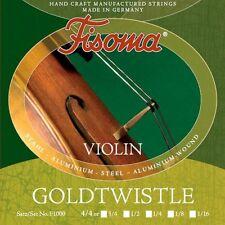 fisoma goldtwistle Jeu de cordes Violon Violon in 6 Größen VIOLIN STRINGS LOT