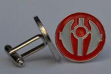 Star Wars Red/Grey Sith Order Emblem Enamel Cufflinks