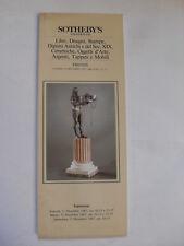 SOTHEBY'S - LIBRI,DISEGNI, STAMPE,DIPINTI SEC. XIX - FIRENZE 14 DICEMBRE 1987