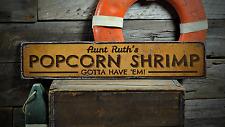 Popcorn Shrimp, Custom Cook Name - Rustic Distressed Wood Sign ENS1001328