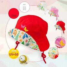 Spring Summer flower tie up girls sun HAT CAP 100% Cotton UV +50 SUN PROTECTION