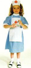 Mädchen Kostüm Krankenschwester Ärztin Doktor Kleid Schürze mit Haube
