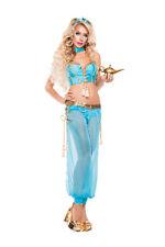 Sexy Starline Blue Genie Yasmine Jasmine Arabian Costume #S5104 ~ SALE