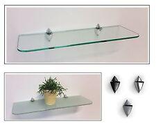 Glasregal satiniert klar 6 Größen abgerundete Ecken /Clip ICEBERG 3 Farben ROY15