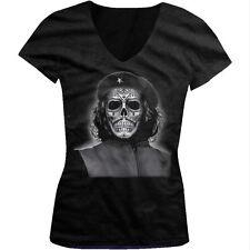 Che Guevara Skull Día De Los Muertos Day Of The Dead Juniors V-neck T-shirt