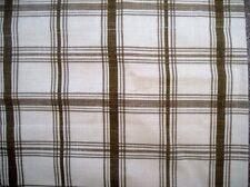Waverly Fabric PANTRY PLAID SPA Brown White Plaid Scallop Window Valance _ NIP