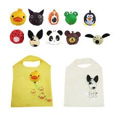 Reusable Foldable Shopping Bag Eco Animal Grocery Tote Handbag  Ladies Clips