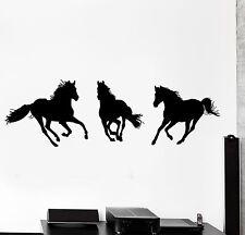 Wall Vinyl Decal Horses Mustang Animals Nature Home Interior Decor z4075