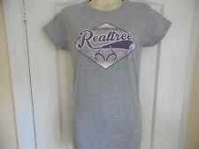 * Nuevo * Realtree Caza armas Damas Gris T Shirt Tallas S M L XL Gildan Softstyle