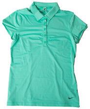 Nike Women's Dri-Fit Mini Stripe Golf Polo Emerald Green