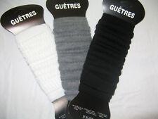 LOT DE 12 GUETRES - 3 COULEURS AU CHOIX              P