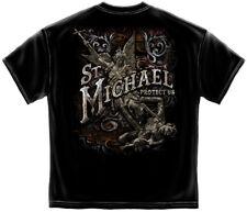 Firefighter St. Michael's Foil Gildan T-Shirt - PreShrunk Cotton - 6 Sizes