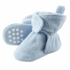 Luvable Friends Boy Toddler Fleece Booties, Light Blue