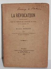 Bersier : La Révocation de l'Edit de Nantes, discours et notes, Fischbacher 1886