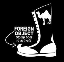 Foreign Object Stomp Boot... Custom Vinyl Sticker Car Window BumpersTool Box
