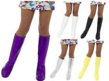 anni '60 ANNI 70 PVC GOGO COPRISTIVALI al ginocchio Donna Accessorio Vestito
