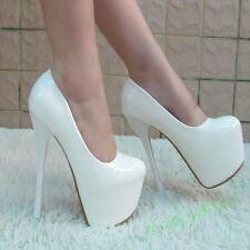 Fashion Platform Super High Stilettos Heels Wedding Nightclub Womens Shoes Party