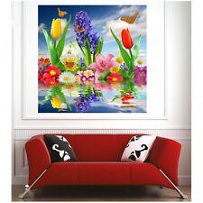 Poster poster fiori farfalle 59490529