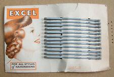 Vintage 50s Hairclips (x 12) on Original Card. Rockabilly/ Swingtime Girls