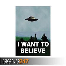 Je veux croire-x files (1057) Poster Print art A0 A1 A2 A3-livraison gratuite!