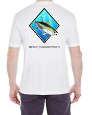 Salt Addiction Short Sleeve Micro Fiber T-Shirt saltwater Tuna Fishing uv 30