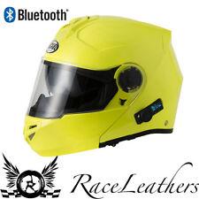 Vcan V270 Blinc Bluetooth Hi Viz Yellow Flip Frontal Casco De Motocicleta + Sunvisor