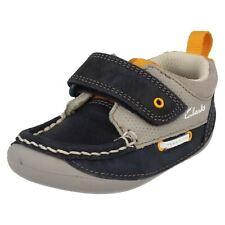 Clarks Boys Navy Combi Cruiser Shoes Cruiser Deck