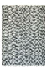 Motif à vagues poil ras Tapis fait main 100% laine Tapis tissé à la main gris