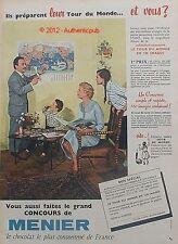 PUBLICITE CHOCOLAT MENIER TOUR DU MONDE CONCOURS DE 1959 FRENCH AD ADVERT PUB