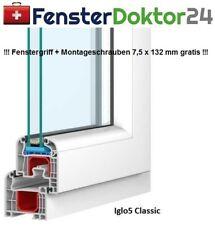 Kunststoff Fenster Breite 600 mm - 1 Flügel Dreh Kipp mit 2 oder 3fach Glas
