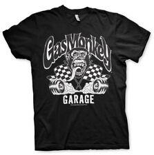 Gas Monkey Garage Burning Wheels Reifen GMG Männer Men T-Shirt Schwarz Black