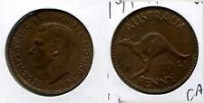 1941 AUSTRALIA KG ONE PENNY COIN BU