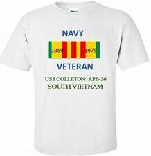 USS COLLETON  APB-36  * SOUTH VIETNAM* VIETNAM VETERAN RIBBON 1959-1975 SHIRT