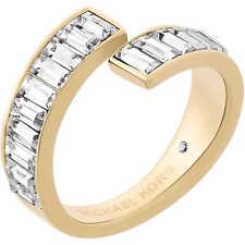 52aeddbcfc57 MICHAEL KORS MKJ6083 Black Tie Affair Baguette Crystal Bypass Ring  MKJ6083710