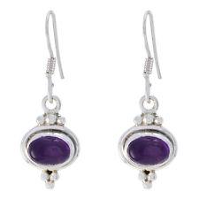 Purple 925 Sterling Silver genuine handsome Amethyst jewelry Earring AU gift