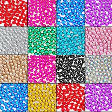 1000 Sparkling Resin Rhinestone Flatback Crystal Acrylic Gems Nail Art 2/3mm