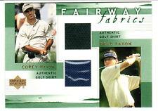 2002 Upper Deck Golf Fairway Fabrics Combo DUAL SHIRT Corey PAVIN Brad FAXON
