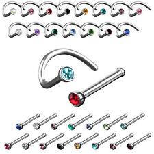 Nasenpiercing Stecker Nase Stud Nasenstecker Spirale Schmuck Kristall Piercing