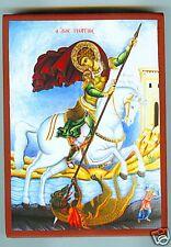 Hl. Georg auf Pferd Drachen Kampf Ikone George Icon